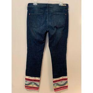 Pilcro and the Letterpress Jeans - Pilcro & Letterpress Anthro Stet Boho Crop Jeans